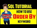How to use Order By Clause in SQL in Hindi | Order By Keyword in SQL Tutorial for Beginners