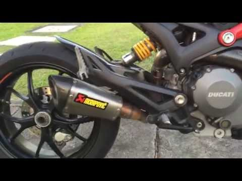 Ducati Monster 796 short Akrapovic