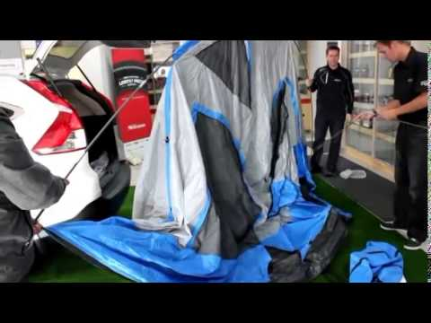 Honda Tent Assembly & Honda Tent Assembly - YouTube