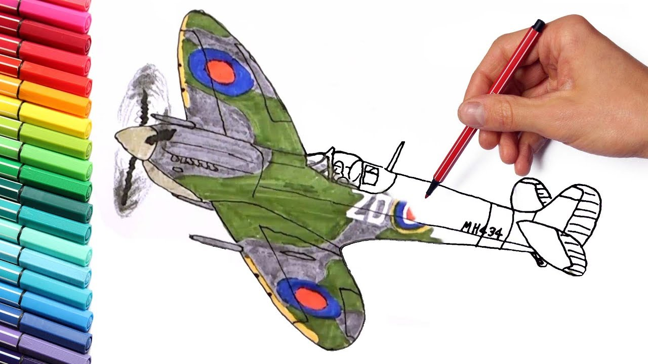 How To Draw Supermarine Spitfire Fighter Aircraft Drawing And