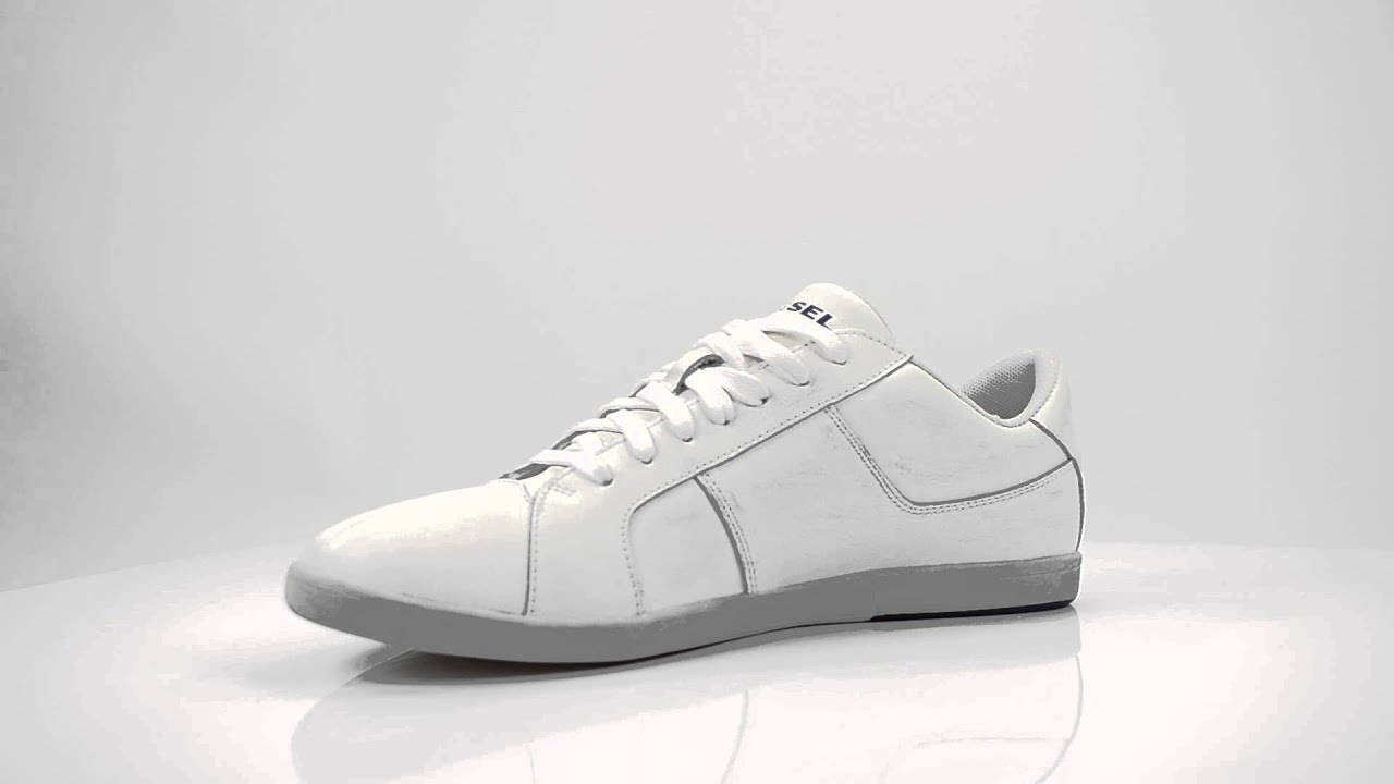 DIESEL MEN SNEAKERS EASTCOP GOTCHA WHITE