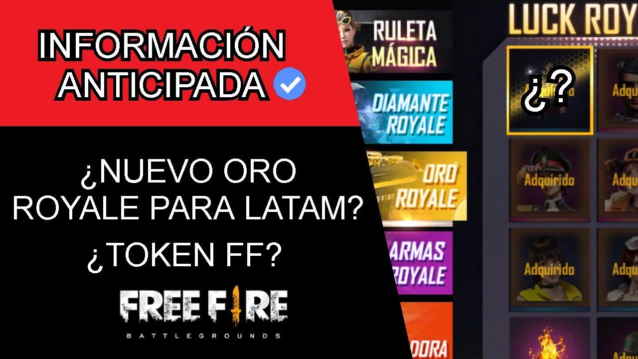 ¡NUEVO ORO ROYALE DE FREE FIRE! ¿ORO ROYALE & TOKEN FF? DE LA PROXIMA ACTUALIZACIÓN EN FREE FIRE
