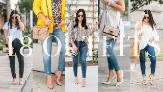 WHAT I WORE - 18 Cute Casual Outfit Ideas | LuxMommy