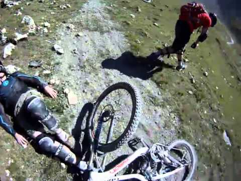 French Alps Mountain Biking crash and awesome rescue