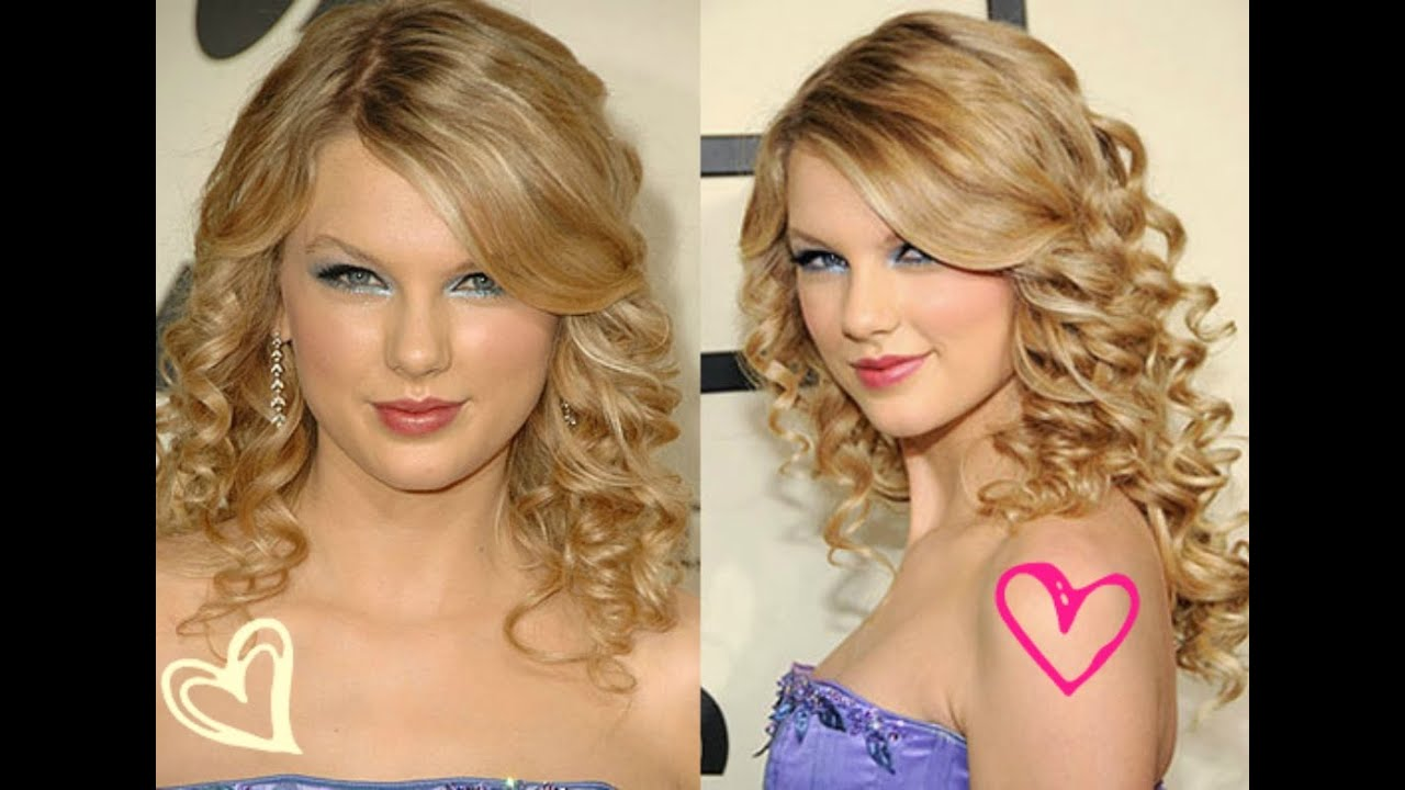 How To Heatless Taylor Swift Curls Youtube