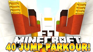 Minecraft - 40 JUMP PARKOUR! (Custom Jump Effects) w/Preston, Pete & Kenny