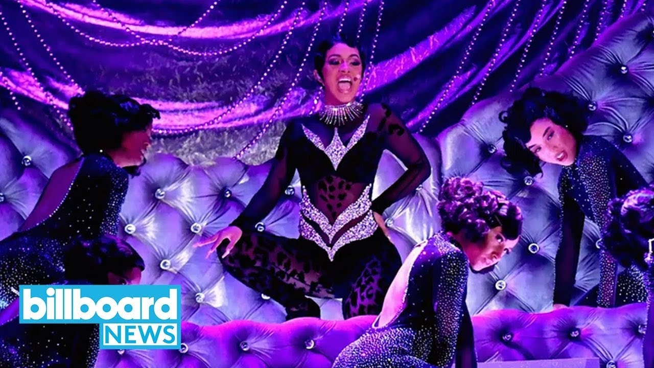 Cardi B Twerks In the Most Glam Way Performing 'Money' at Grammys 2019 | Billboard News