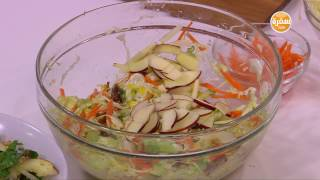 سلطة الحمص والذرة والتفاح - سلطة الكرنب والفواكه | طبخة ونص حلقة كاملة