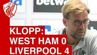 West Ham 0-4 Liverpool: Jurgen Klopp Post-Match Press Conference