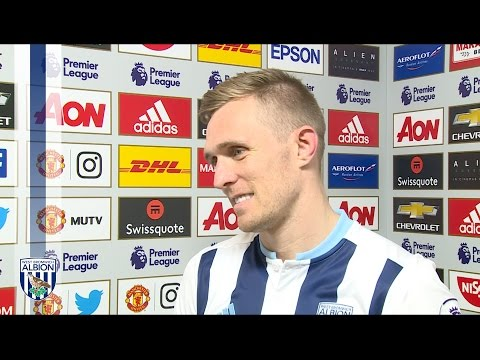 Darren Fletcher reacts to Albion's 0-0 draw at Old Trafford