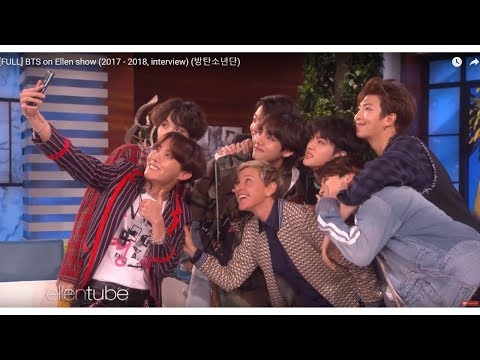 BTS on Ellen show Full (2017 - 2018). Are you an Army?