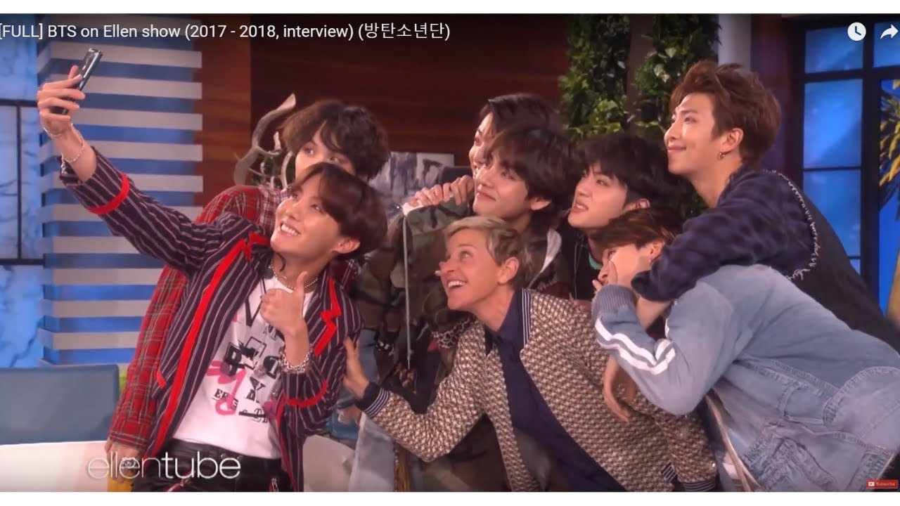 BTS on Ellen show Full (2017 - 2018)  Are you an Army?