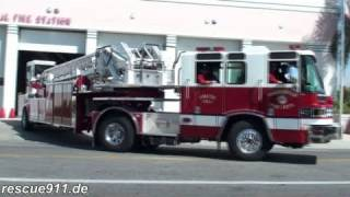 Truck 1 Bakersfield fire department + Ambulance