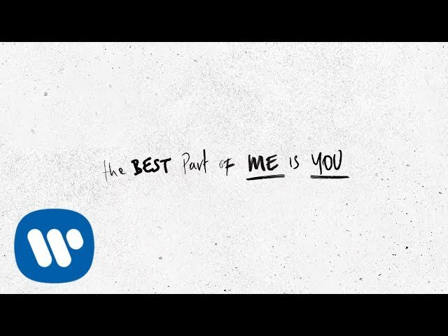 Ed Sheeran Best Part Of Me Feat Yebba Official Lyric Video Youtube