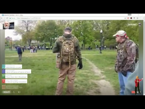 🔴 Live Oathkeepers Free Speech Rally at Boston Common - ' Antifa ' Kids Present (1)
