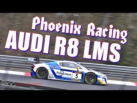 Audi R8 LMS Phoenix Racing #5 Stippler Fjordbach VLN 2 Nürburgring Nordschleife SPEED no crash SLOMO