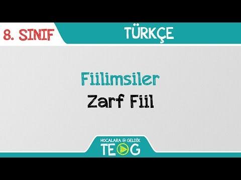 Fiilimsiler - Zarf Fiil