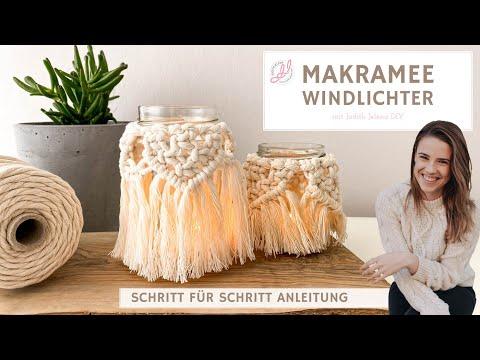 Makramee DIY Windlicht