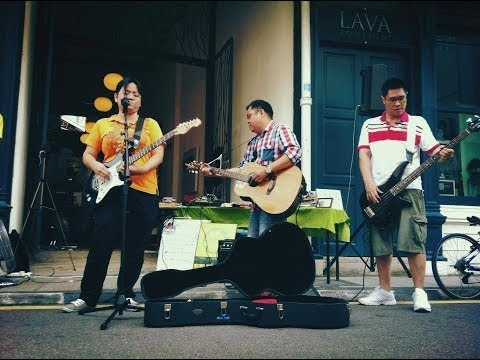 The Rubberbands Busking at Beach Street, Georgetown, Penang