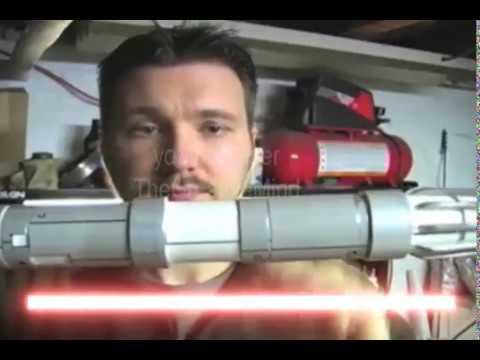 DIY Darth Maul Star Wars Episode I home made lightsaber video 4 of 5