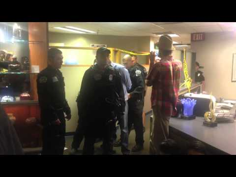 Footage of sit in, arrest at Albuquerque mayor