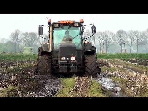 Erg nat maisland lostrekken met Valmet 8050