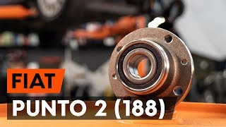 Montering Hållare, krängningshämmarfäste FIAT PUNTO: videoinstruktioner