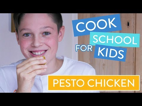 How To Make Crispy Pesto Chicken | Channel Mum's Cook School For Kids