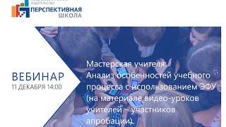 Мастерская учителя: анализ особенностей учебного процесса  с использованием ЭФУ (материалы уроков)