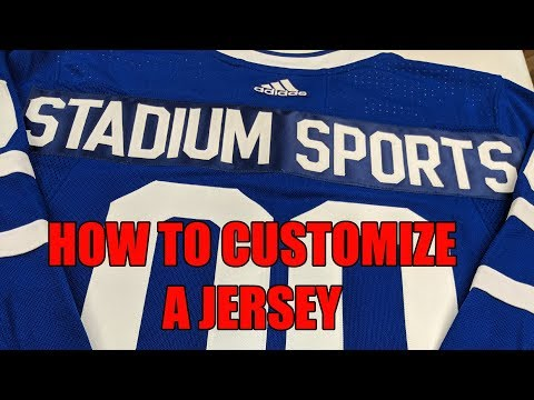 HOW TO CUSTOMIZE A TORONTO MAPLE LEAFS NHL HOCKEY JERSEY