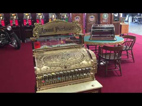 Restored National brass cash register SOLD!