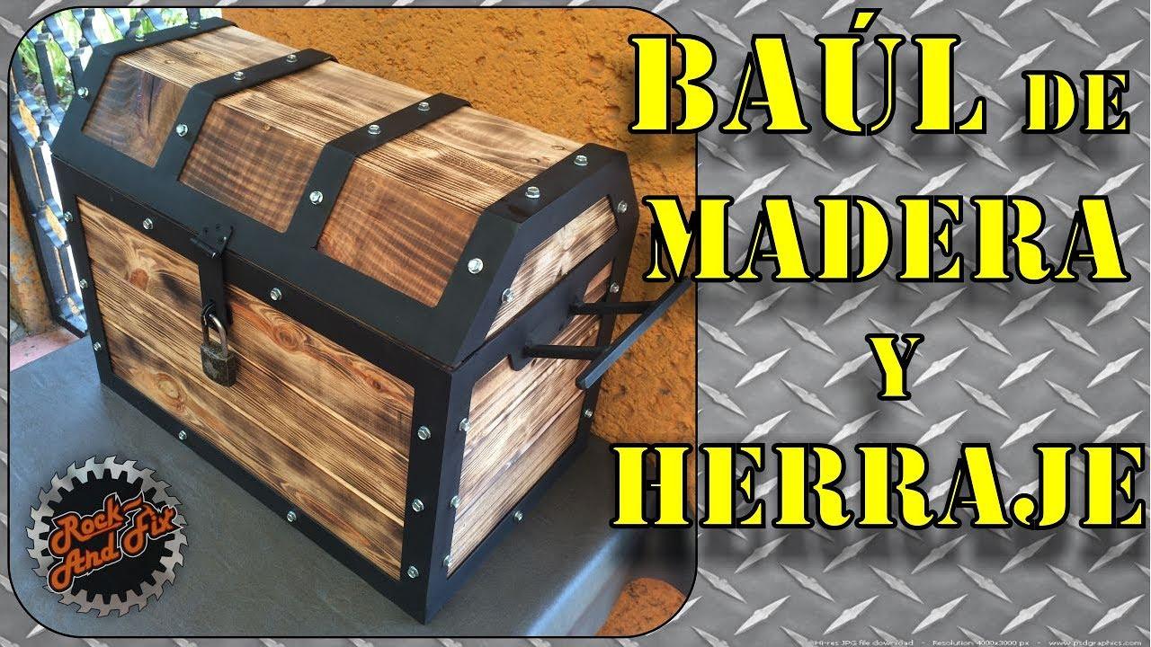Como hacer un cofre ba l de madera y herraje paso a paso for Como hacer herrajes rusticos