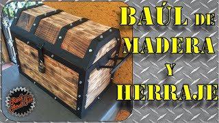 Como hacer un Cofre/Baúl de Madera y Herraje paso a paso | DIY