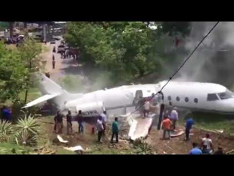 Avión se estrella en aeropuerto de Toncontín, Tegucigalpa, Honduras