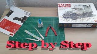 MiniArt German GAZ-AAA w//Shelter mit Aufbau Bausatz Kit 1:35 Kit Art 38183 LKW
