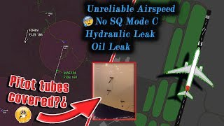 Malaysian A330 has UNRELIABLE AIRSPEED, HYDRAULIC LEAK and more!
