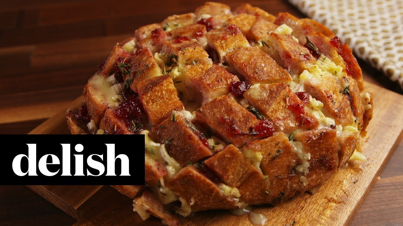 Cranberry Brie Pull Apart Bread Delish Youtube