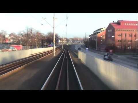 Spårvagn linje 10 (Tram line 10 in Gothenburg) hela turen på ca 8 minuter