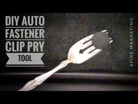 Diy Car Fastener Clip Removal Tool Quick Tip Youtube
