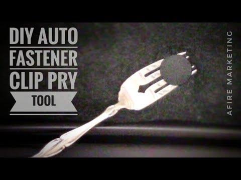 DIY Car Fastener Clip Removal Tool: Quick Tip