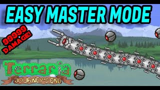 (Master Mode)BEST WAY TO BEAT THE DESTROYER 1.4 TERRARIA JOURNEYS END