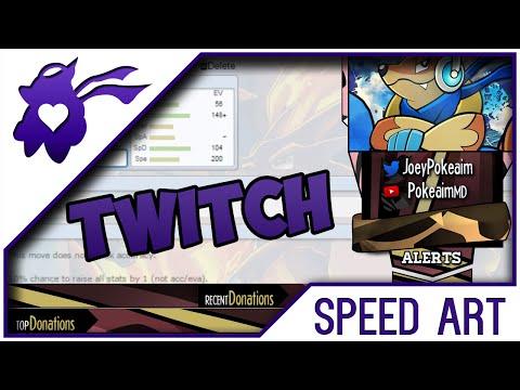 AwH #5  | Pokeaim Twitch Layout Speedart