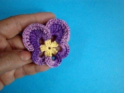 Анютины глазки How to crochet