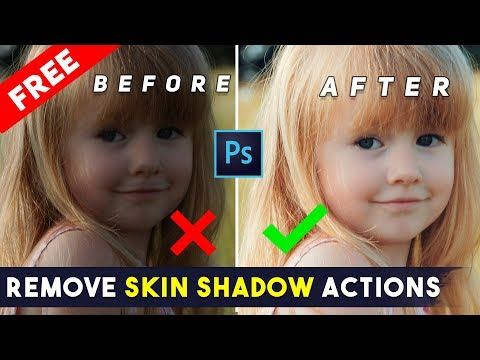 How To Remove Skin Shadow Quickly By 1-Click Photoshop Actions