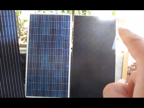 Review: Sunpower monocrystalline (no tabbing wire) solar panel vs. polycrystalline