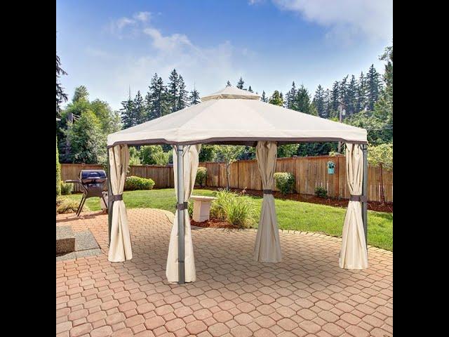Replacement Canopy Top For Bergamo Sonoma Gazebo Lcm1210 Youtube
