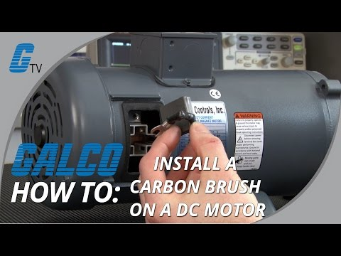 How to Install a Carbon Brush in a DC Motor