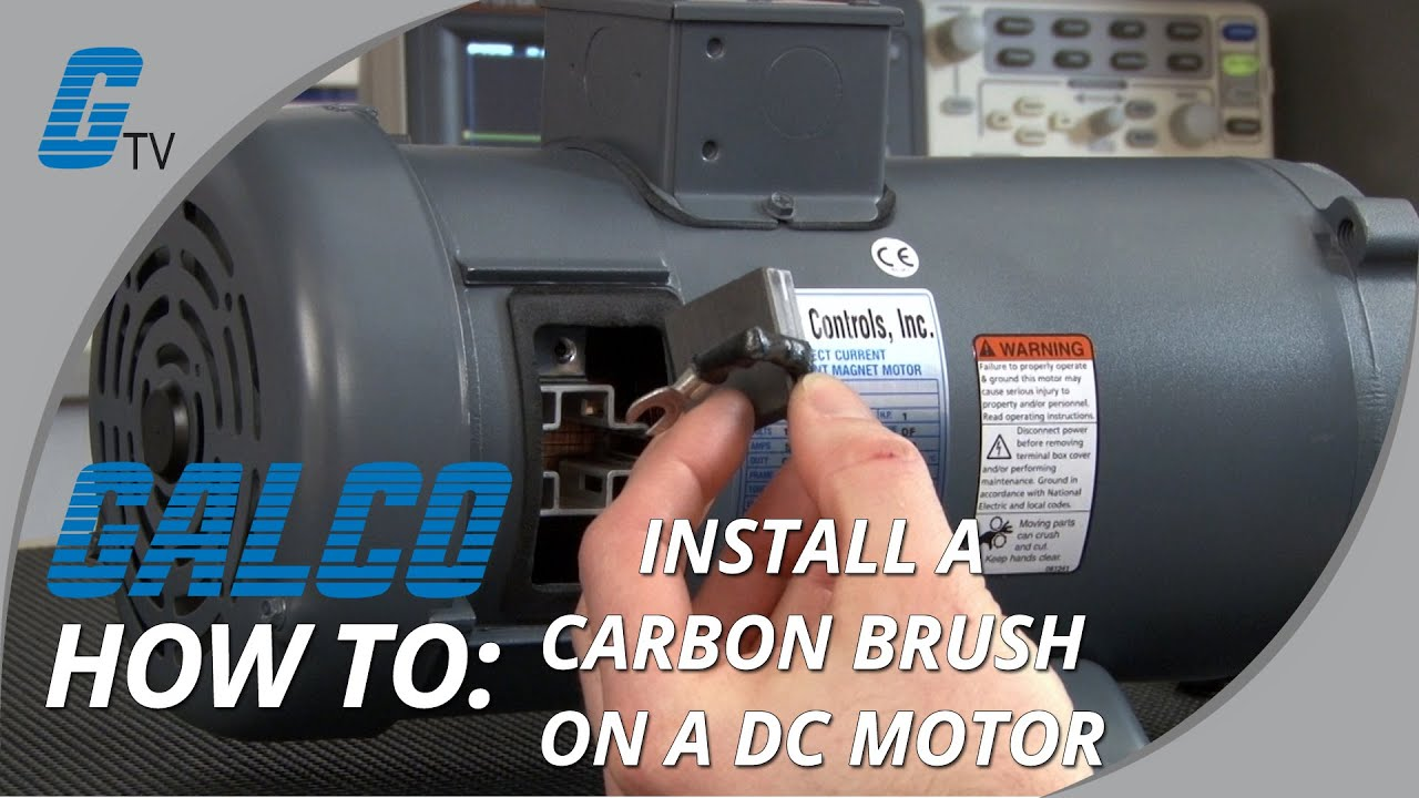 How To Install A Carbon Brush In A Dc Motor Youtube