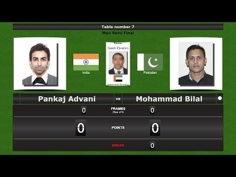 Snooker Men 1/2 Final : Pankaj Advani vs Mohammad Bilal