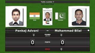 snooker men 1 2 final pankaj advani vs mohammad bilal